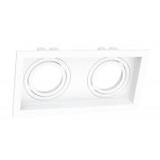 Spot Embutir Duplo Dicróica MR16 Face Recuada Direcionável Branco 19cm