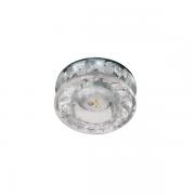SPOT EMBUTIR LED CRISTAL REDONDO FIXO VIDRO BIVOLT ZG216
