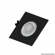 Spot Embutir MR11 Direcionável Quadrado Plano Preto