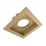 Spot Embutir MR11 Direcionável Quadrado Recuado Ouro