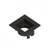 Spot Embutir MR11 Direcionável Quadrado Recuado Preto