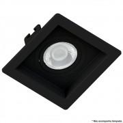 Spot Embutir Dicróica MR16 Face Recuada Direcionável Preto 10cm