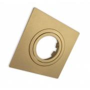 Spot Embutir Par20 Direcionável Quadrado Plano Ouro