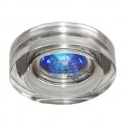 Spot Embutir Shine Redondo Cristal Transparente 1GU10 Mini Dicroica YD756B Bella