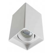 Spot Sobrepor Quadrado para MR16 Dicróica Recuado Direcionável Branco DS2443 Delis