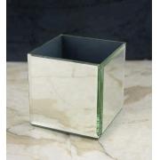 Vaso Cactus Vidro Espelhado Quadrado 7,5x8cm