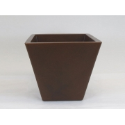 Vaso Cimbidio Conico Tabaco em MDF 19,5x22cm