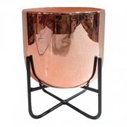 Vaso Decorativo Ceramica Cobre Base de Ferro TN0171