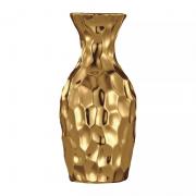 Vaso Decorativo Cerâmica Dourado 6,5X12CM 5638