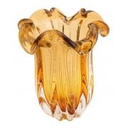 Vaso Decorativo de Vidro Flat Italy Âmbar 21,5cm 4266 Lyor