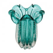 Vaso Decorativo de Vidro Flat Italy Tiffany 24cm 4456 Lyor