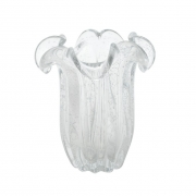 Vaso Decorativo de Vidro Flat Italy Transparente 21,5cm 4323 Lyor