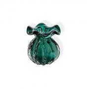 Vaso Decorativo de Vidro Trouxinha Italy Verde Esmeralda 11cm 4319 Lyor
