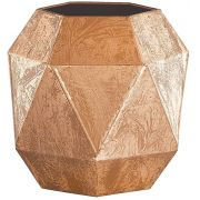 Vaso Decorativo Metal Cobre Triângulo 18cm 5557 Mart