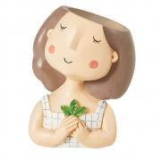 Vaso Decorativo Poliresina Menininha 10cm 11831 Mart