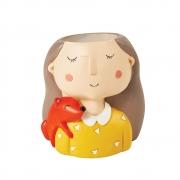 Vaso Decorativo Poliresina Menininha 9,5cm 11829 Mart
