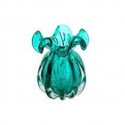 Vaso Decorativo Trouxinha Italy Tiffany Detalhes Dourado 17,5cm 4390 Lyor