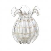 Vaso Decorativo Trouxinha Italy Transparente com Detalhes Dourado 17cm 4387 Lyor
