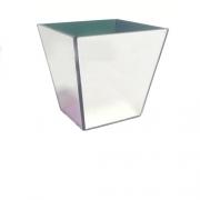 Vaso Violeta Vidro Espelhado 10x9,5cm