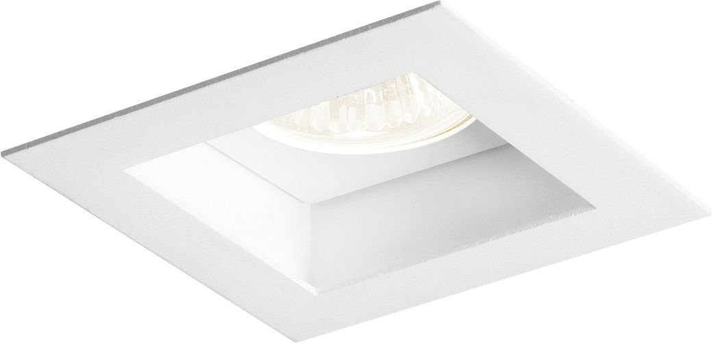 8x Spot Embutir Flat AR111 Quadrado Branco New Line