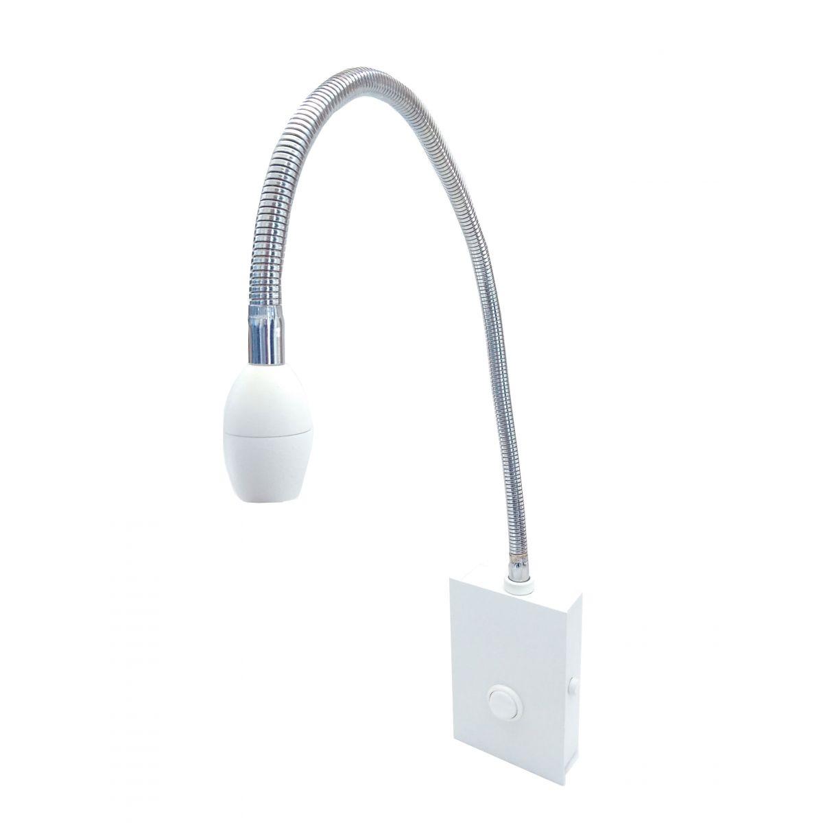 Abajur Articulável para cabeceira Branco LED 3W 3000K Piuluce