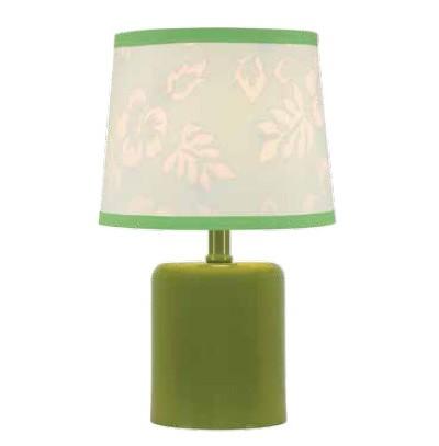 Luminaria Abajur Verde 37CM PA6104D Cupula Inclusa Bella