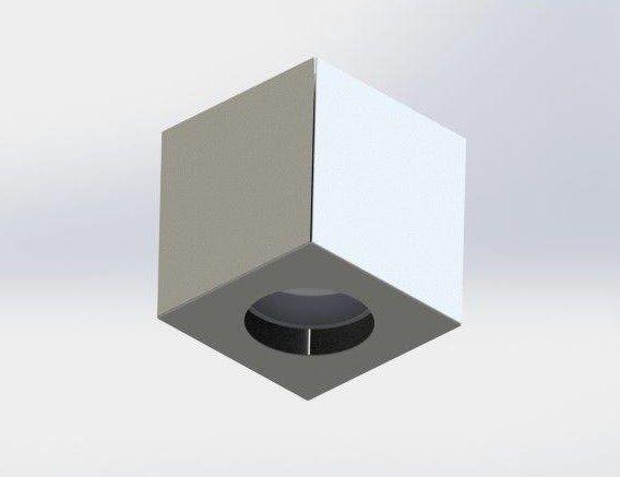Arandela Cube Gu10 Branca Goli