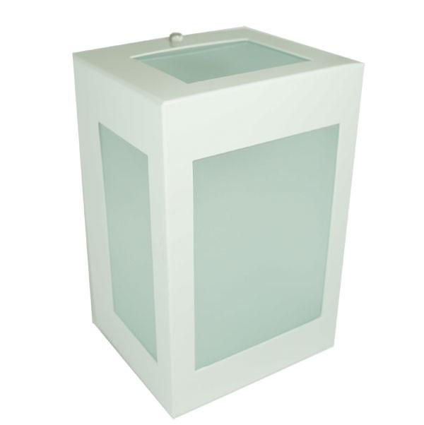 Arandela Metal 5 Vidros Branca 1E27 19x12,5CM Real