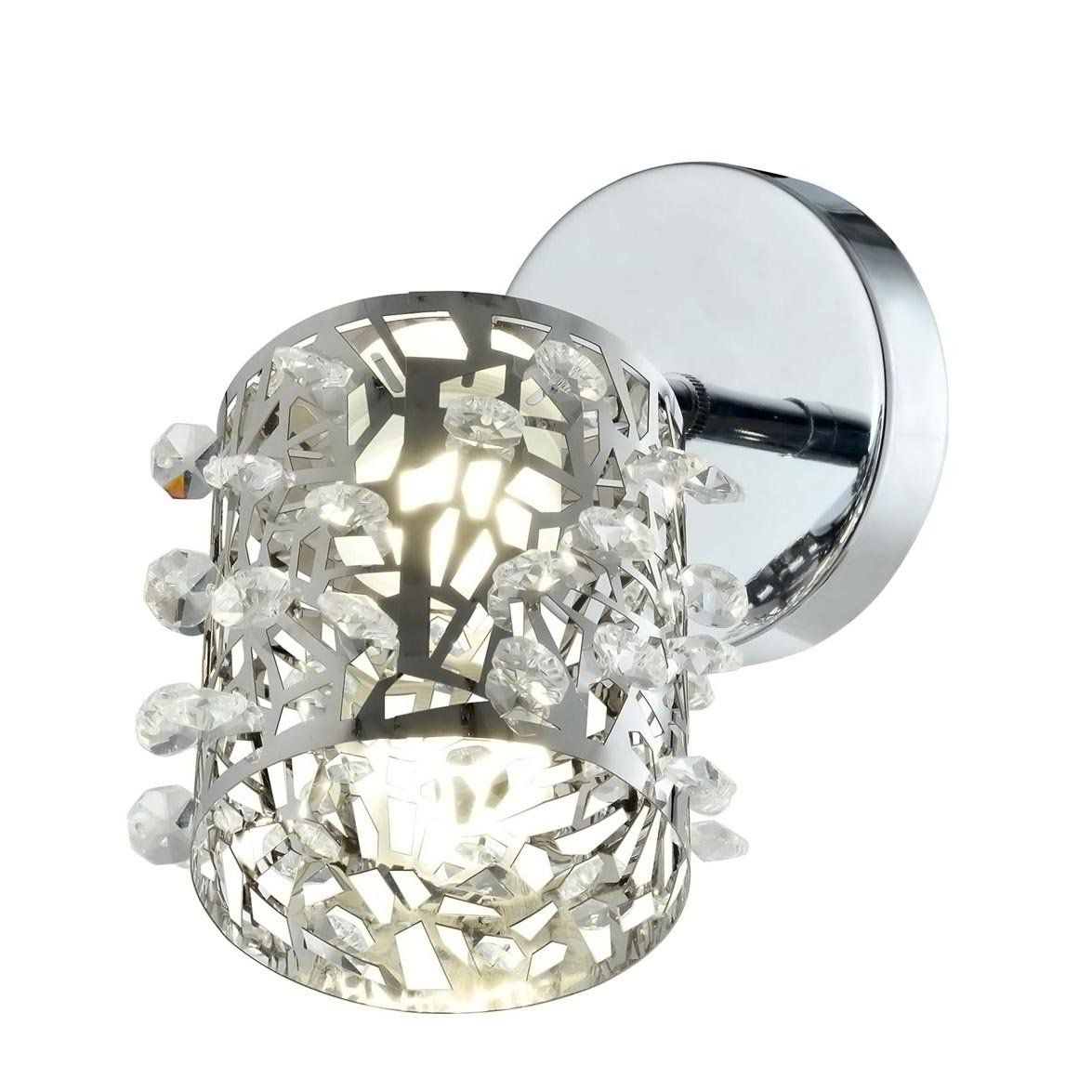 Arandela Aço Inox/Cristal 1G9 10X17CM QAR1282