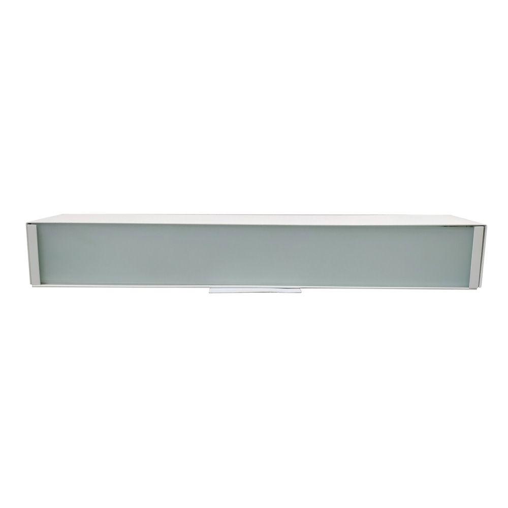 Arandela Aluminio Vidro Jateado Branco 3G9 50CM TS5023W Bella