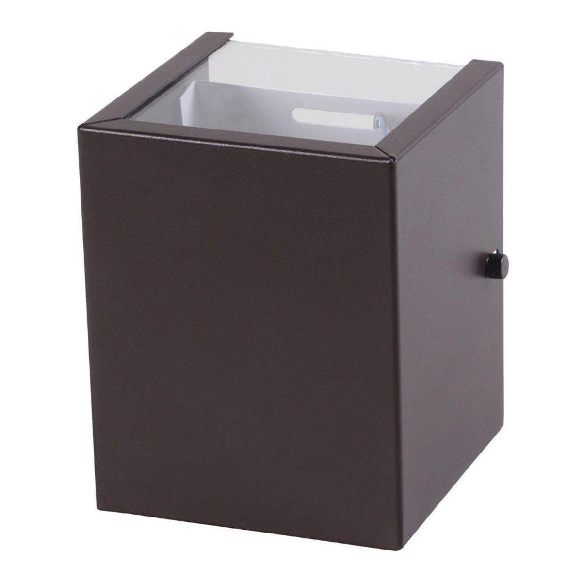 Arandela Box 2 Focos Marrom 1G9 10x12cm Externa