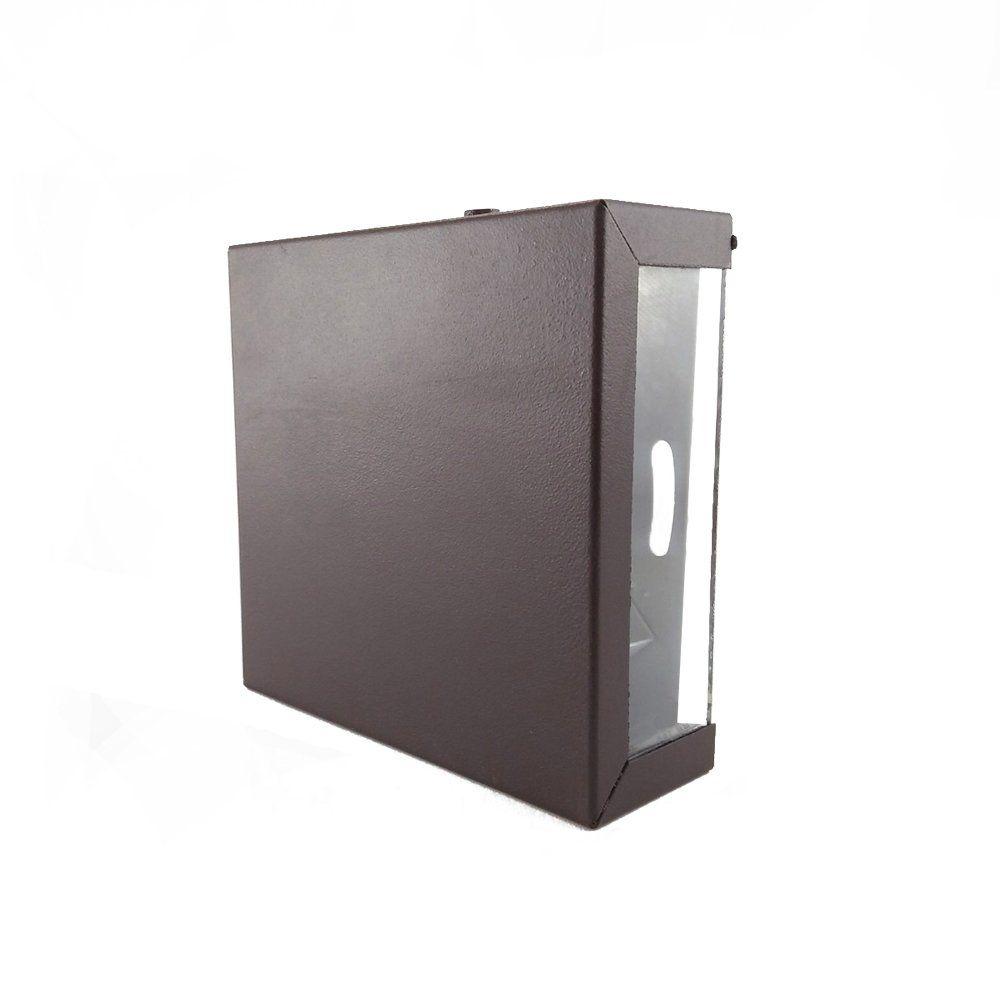 Arandela Box Slim Aluminio Marrom 1g9 Ar7-3