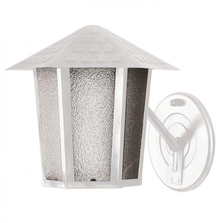 Arandela Parede Branca Sextavada Vidro Pontilhado Colonial Blumenau