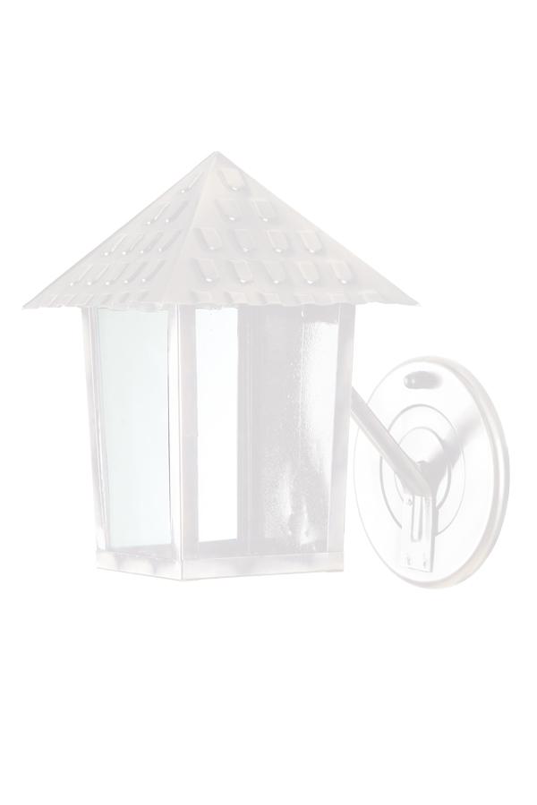 Arandela De Parede Braço Quadrado Branco Colonial Blumenau