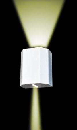 Arandela Kasse Sextavada Branco Fosco Mescla Aluminio 1G9
