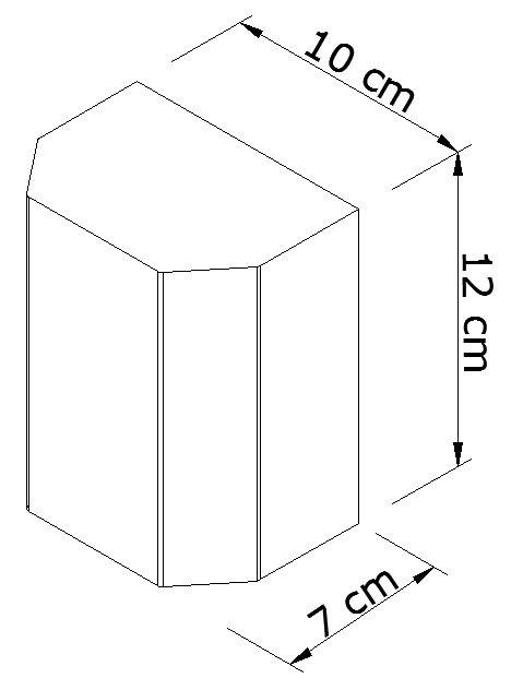 Arandela Kasse Sextavada Metal Marrom Fosco 1G9 10x12CM Metal Domado