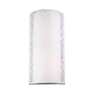 Arandela Lace Cupula Redonda Tecido Branco 2E27 40CM Bronzarte