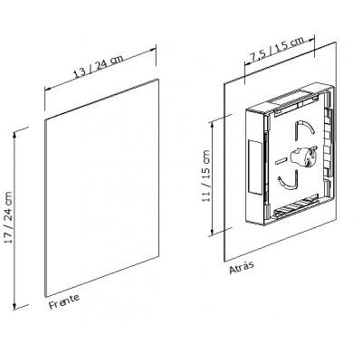 Arandela Lustro G Metal Marrom 1G9 17,24x13,24CM Metal Domado