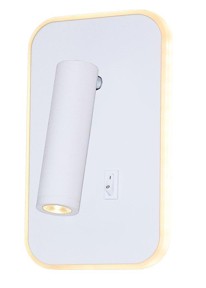 Arandela Metal Cabeceira 19CM Branca LED 10+3W 3000K Delis