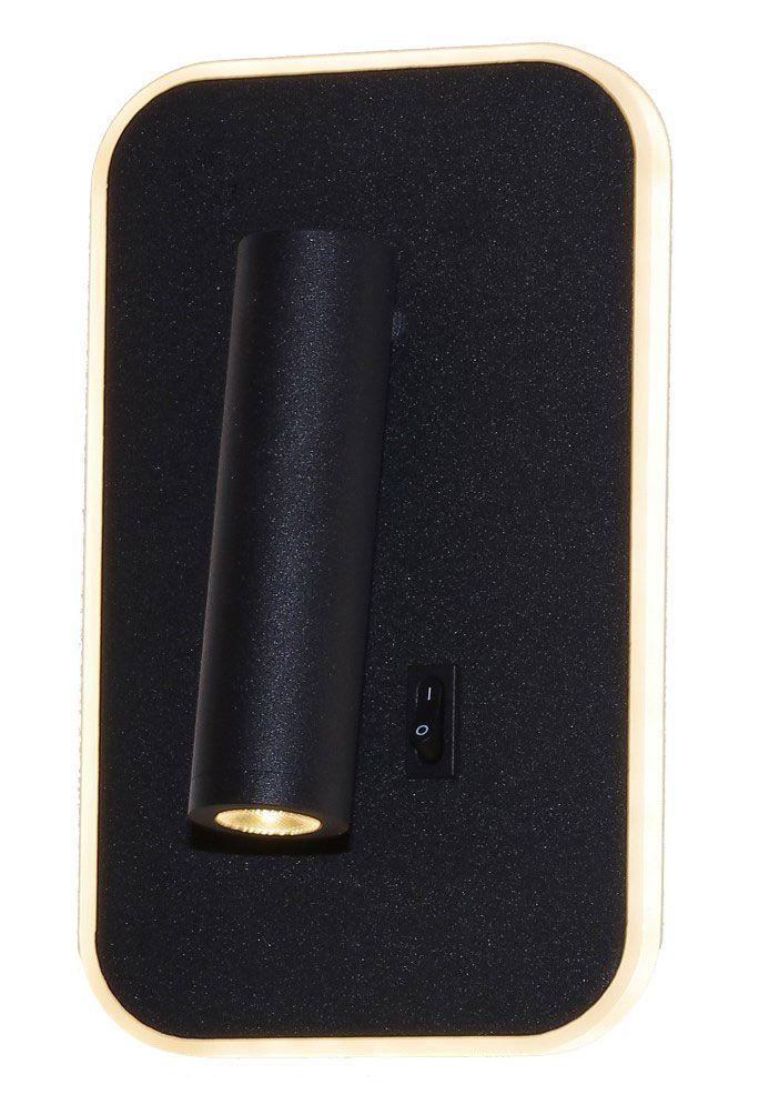 Arandela Metal Cabeceira 19CM Preta LED 10+3W 3000K Delis