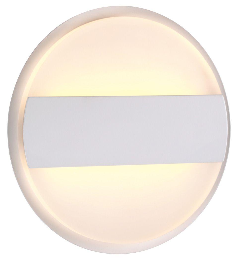 Arandela Metal E Acrilico Branco 12W 3000K 15x5CM Bivolt