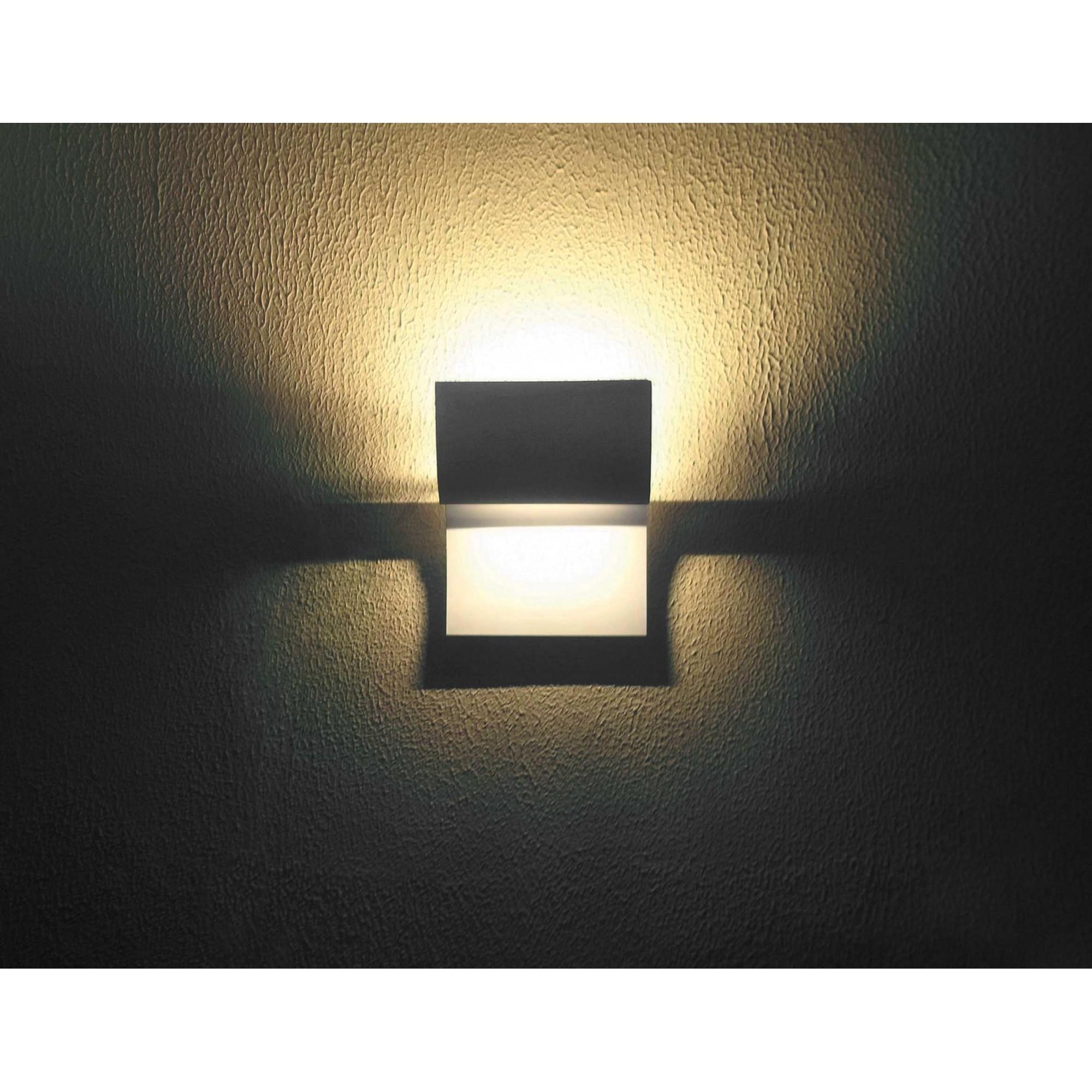 Arandela Pá Luz Indireta Lâmpada Halogena Preta Real