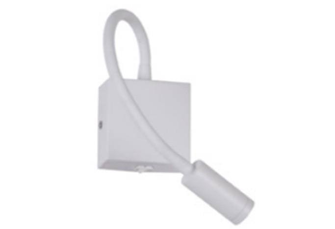 Arandela Pix Branca Cabeceira LED 3W 3000K Luz Amarela Bivolt