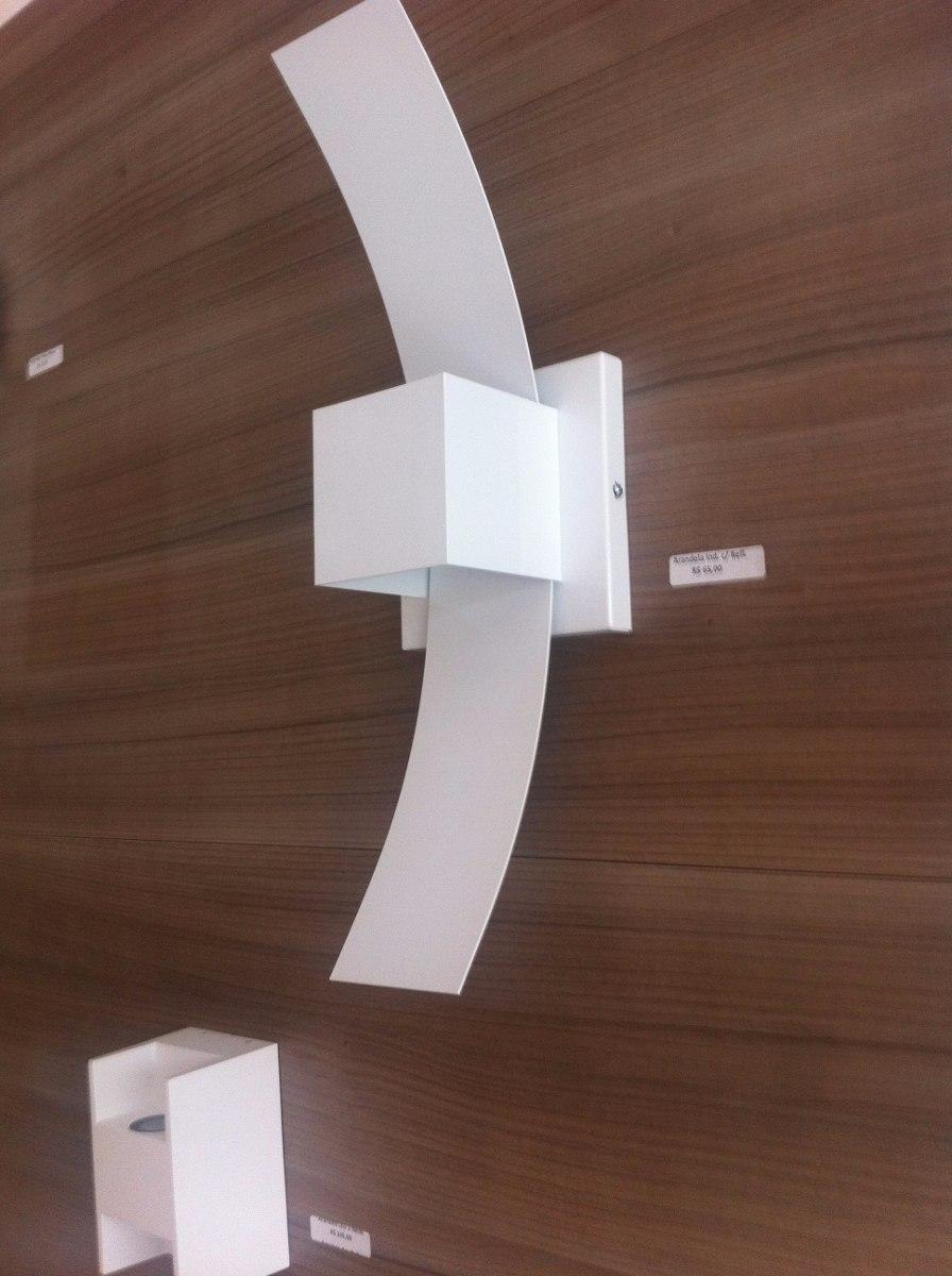 Arandela Aba Refletora Luz Indireta 1G9 Branca Real