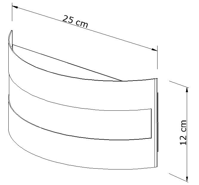 Arandela Taglio Redonda Branco 2E27 25x12CM Metal Domado