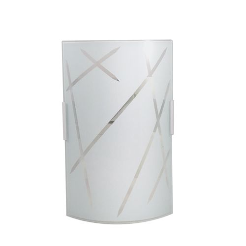 Arandela Vidro Cuiabá Curva Vidro Leitoso 1E27 8x14CM AR1009/1 Kin Light