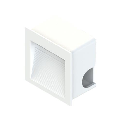 Balizador Embutido Led Quadrado 8CM 1,5W 3000K Ambiente Externo/Escada Save Energy
