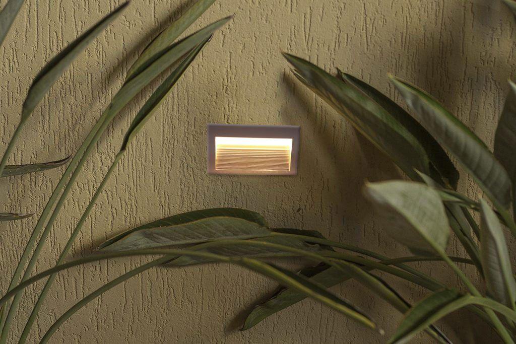 Balizador Embutido Led Retangular 3W 3000K Ambiente Externo/Escada Save Energy