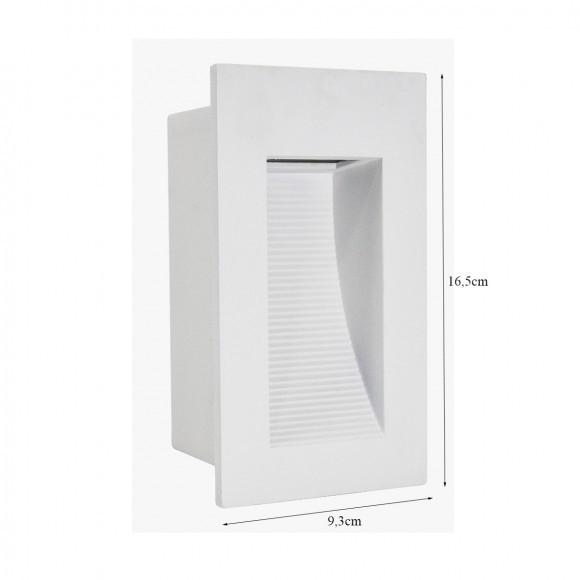 Balizador Embutir 1g9 Retangular 9,3x16,5cm Branco