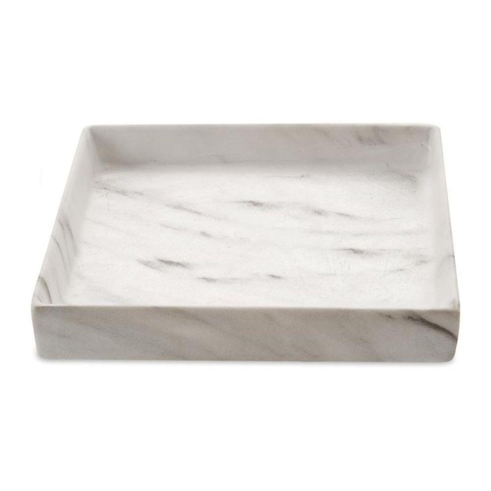 Bandeja Quadrado Cerâmica Decorativa Marmore 15x3CM 08715 Mart Collection